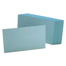 Oxford™ Unruled Index Cards, 3 x 5, Blue, 100/Pack