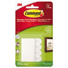 "Command™ Picture Hanging Removable Interlocking Fasteners, 5/8"" x 2 1/8"", Set of 4"