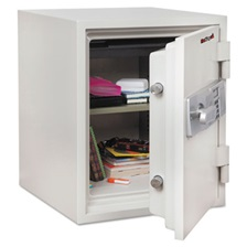 FireKing® Two Hour Fire and Water Safe, 1.48 ft3, 18-1/5 x 18-1/3 x 21-3/4, White
