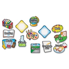 Learning Resources® Magnetic Subject Labels, 4 x 6, 13/Set
