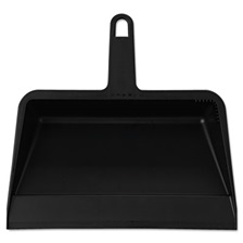 Impact® Value-Plus Polypropylene Dust Pan, 11 1/2w x 11d x 4h, Black, 12/Carton