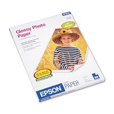 Epson® Glossy Photo Paper, 52 lbs., Glossy, 8-1/2 x 11, 50 Sheets/Pack
