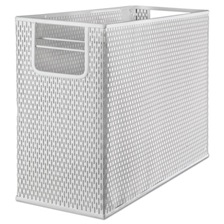Artistic® Urban Collection Punched Metal Desktop File, 13 x 5 3/4 x 10 3/4, White