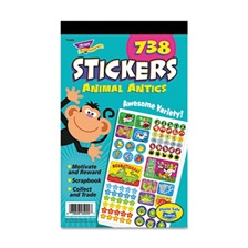 TREND® Sticker Assortment Pack, Animal Antics, 738 Stickers/Pad