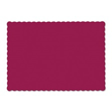 Hoffmaster® Solid Color Scalloped Edge Placemats, 9 1/2 x 13 1/2, Burgundy, 1000/Carton