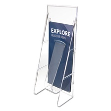 deflecto® Stand Tall Literature Holder, 4 9/16w x 3 1/4d x 11 7/8h, Clear