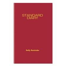 AT-A-GLANCE® Standard Diary Recycled Daily Reminder, Red, 5 3/4 x 8 1/4, 2018