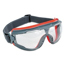 3M™ GoggleGear 500Series Safety Goggles, AntiFog, Red/Black Frame, Clear Lens,10/Ctn