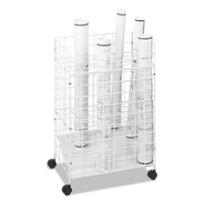 Safco® Wire Roll Files, 24 Compartments, 21w x 14-1/4d x 31-3/4h, White