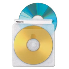 Fellowes® Double-Sided CD/DVD Sleeves, 50/Pk