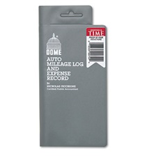 Dome® Auto Mileage Log/Expense Record, 3 1/2 x 6 1/2, 140-Page Book