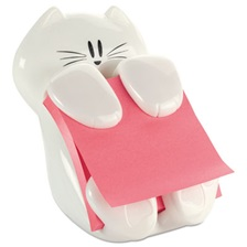 Post-it® Pop-up Notes Super Sticky Pop-Up Note Dispenser Cat Shape, 3 x 3, White
