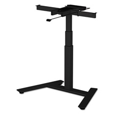 "Alera® AdaptivErgo 1-Column Electric Adjustable Table Base, 24 3/4"" to 43 1/4""H, Black"