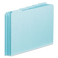 Pendaflex® Top Tab File Guides, Blank, 1/5 Tab, 25 Point Pressboard, Letter, 100/Box