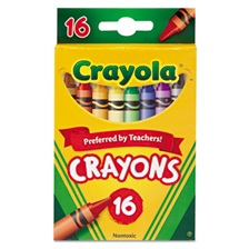 Crayola® Classic Color Crayons, Peggable Retail Pack, 16 Colors