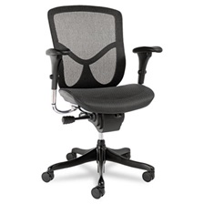 Alera® Alera EQ Series Ergonomic Multifunction Mid-Back Mesh Chair, Black Base
