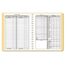 Dome® Bookkeeping Record, Tan Vinyl Cover, 128 Pages, 8 1/2 x 11 Pages