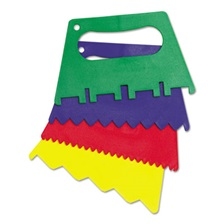 "Creativity Street® Plastic Paint Scrapers, 5""W, Green/Blue/Red/Yellow, 4 Scrapers/Set"