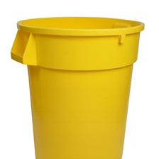 44 Gal. Round Garbage Container Yellow