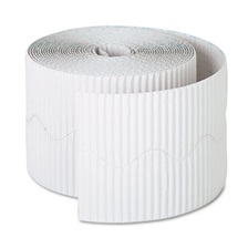 "Pacon® Bordette Decorative Border, 2 1/4"" x 50' Roll, White"