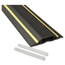 D-Line® Medium-Duty Floor Cable Cover, 3 1/4 x 1/2 x 6 ft, Black with Yellow Stripe
