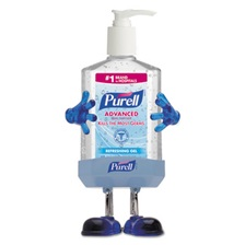 PURELL® Pal Instant Hand Sanitizer Desktop Dispenser w/8oz Pump Bottle, 3wx3 1/2dx8 1/2h