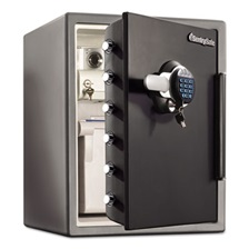 Sentry® Safe Electronic Water-Resistant Fire-Safe, 2 ft3, 18 2/3 x 19 3/8 x 23 7/8, Black