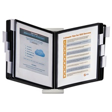 Durable® InstaView Expandable Desktop Reference System with Black Borders, 10 Panels