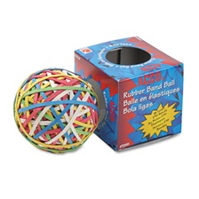 ACCO Rubber Band Ball, Approximately 275 Rubber Bands, Assorted