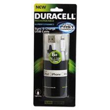 Duracell® Sync And Charge Cable, Apple Lightning, 6ft