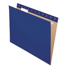 Pendaflex® Colored Hanging Folders, 1/5 Tab, Letter, Navy, 25/Box