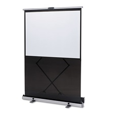 Quartet® Euro Instant Portable Cinema Screen w/Black Carrying Case, 80 x 80