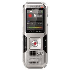 Philips® Voice Tracer 4000 Digital Recorder, 4 GB, Silver Shadow/Chrome