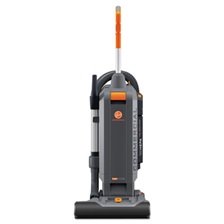 "Hoover® Commercial HushTone Vacuum Cleaner, 15"", Orange/Gray"