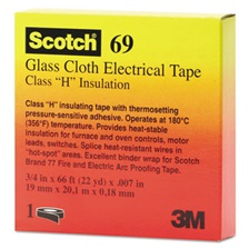 "3M™ Scotch 69 Glass Cloth Electrical Tape, 3/4"" x 66ft"
