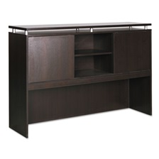 Alera® Alera Sedina Series Hutch with Sliding Doors, 66w x 15d x 42 1/2h, Espresso
