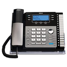 RCA® ViSYS 25425RE1 Four-Line Phone with Digital Answering Machine, Caller ID