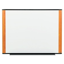 3M™ Melamine Dry Erase Board, 48 x 36, Light Cherry Frame