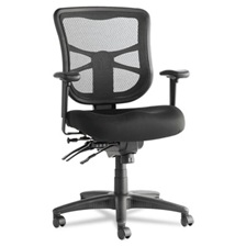 Alera® Alera Elusion Series Mesh Mid-Back Multifunction Chair, Black