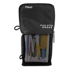 Five Star® Stand 'N Store Pencil Pouch, 4 1/2 x 8, Black