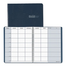 House of Doolittle™ Teacher's Planner, Embossed Simulated Leather Cover, 11 x 8-1/2, Blue