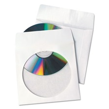 Quality Park™ Tech-No-Tear Poly/Paper CD/DVD Sleeves, 100/Box