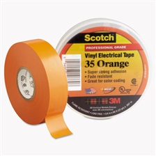 "3M™ Scotch 35 Vinyl Electrical Color Coding Tape, 3/4"" x 66ft, Orange"