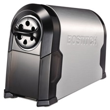 Bostitch® SuperPro Glow Commercial Electric Pencil Sharpener, Black/Silver