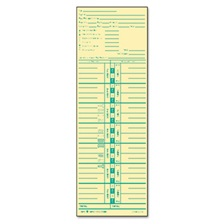 TOPS™ Time Card for Acroprint and Lathem, Weekly, 3 1/2 x 10 1/2, 500/Box