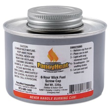 FancyHeat® Chafing Fuel Can, Twist Cap Wick, 6 Hour Burn, 8 oz