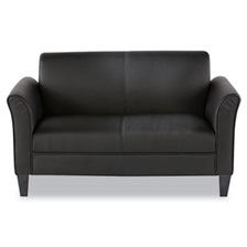 Alera® Alera Reception Lounge Furniture, Loveseat, 55-1/2w x 31-1/2d x 32h, Black