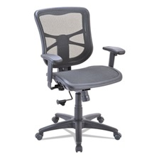 Alera® Alera Elusion Series Air Mesh Mid-Back Swivel/Tilt Chair, Black