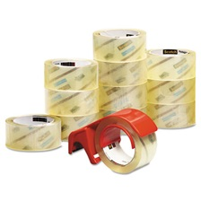 "Scotch® 3750 Commercial Performance Packaging Tape, 1.88"" x 54.6yds, Clear, 12/Pack"
