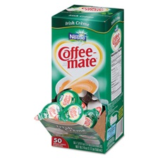 Coffee-mate® Liquid Coffee Creamer, Irish Crème, 0.375 oz Mini Cups, 50/Box, 4 Box/Carton